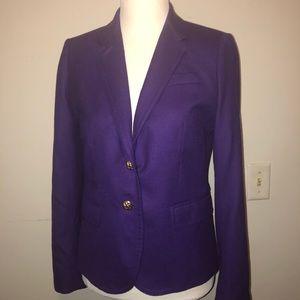 J Crew Schoolboy Wool Purple Blazer Size 6